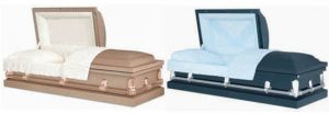 Copper and Blue Caskets
