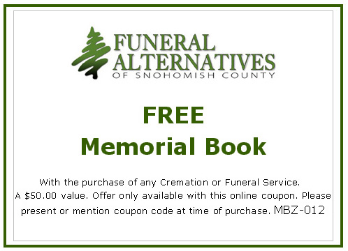 Receive a free Memorial Book with any Cremation or Funeral Service - A $50 Value